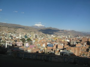 La Paz City As Seen from Al Alto – With Mt Illimani In the Background