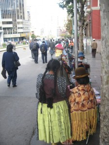 Indigenous Bolivian Women - Dressed In Cholita Clothing