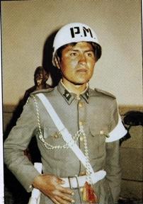 Evo Morales - military service photo